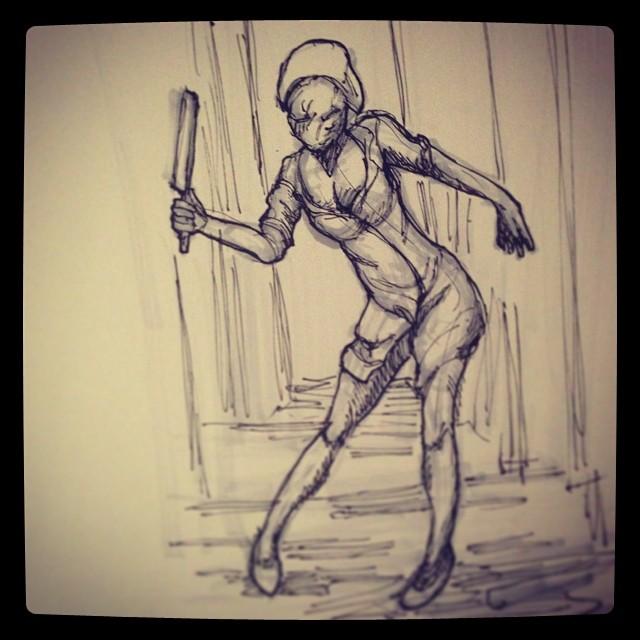 #art #illustration #drawing #silenthill #copic #horror #nurse