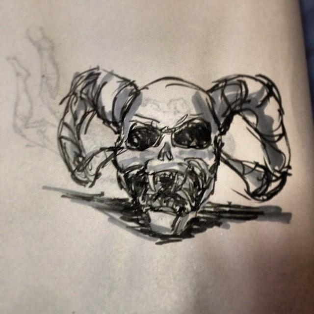 #skull #drawing #art #illustration
