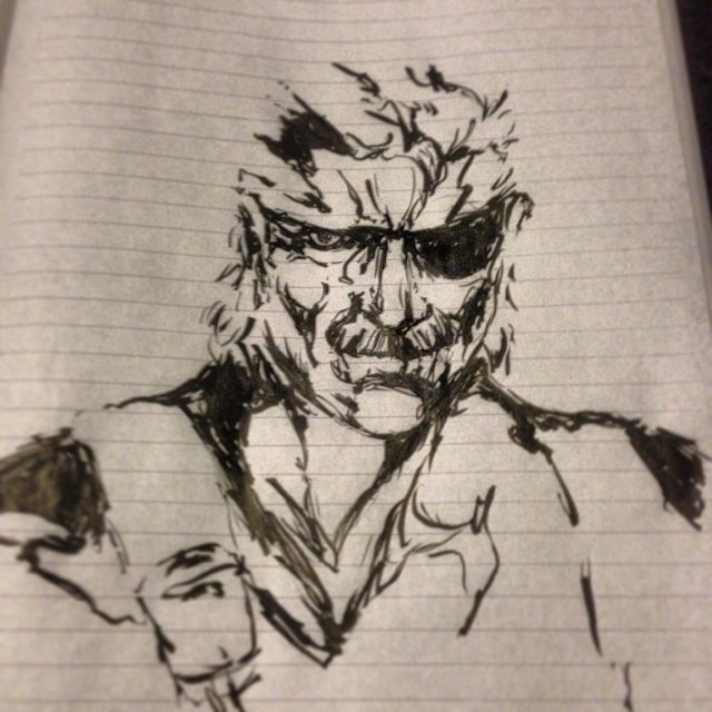 Playing around with my new brush pen #metalgearsolid #mgs #art #drawing #illustration #art