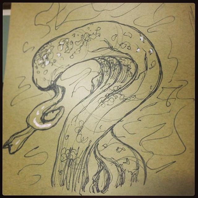 #art #illustration #drawing #strange #plant