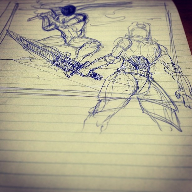 #art illustration #drawing #fight