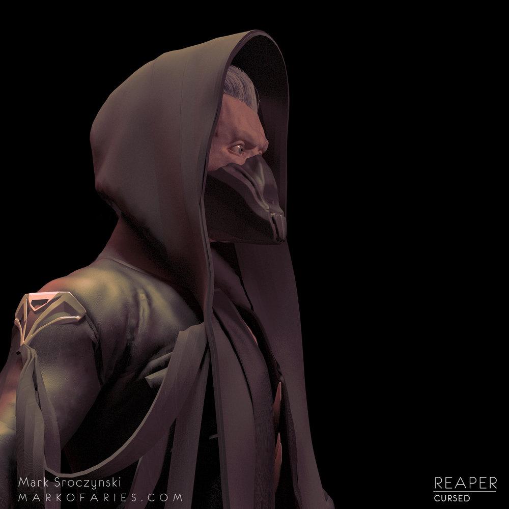 reaper black side mask mark of aries