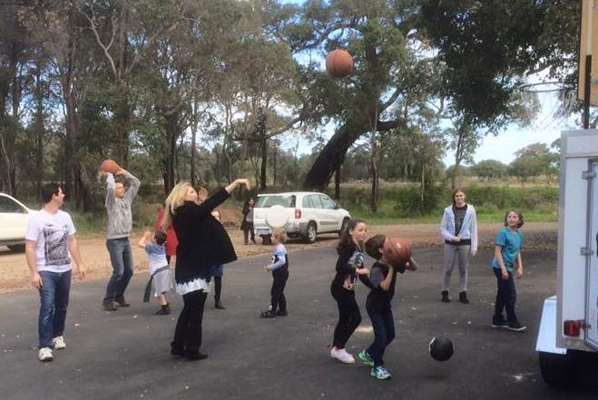Basketball after church