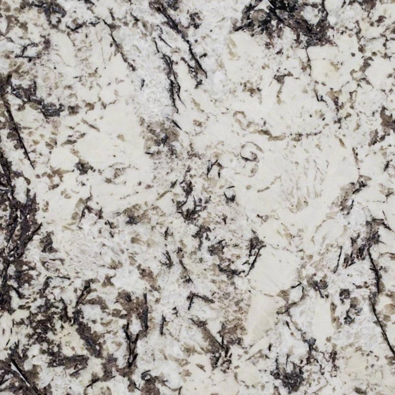 Delicatus White Granite 75 Cabinets