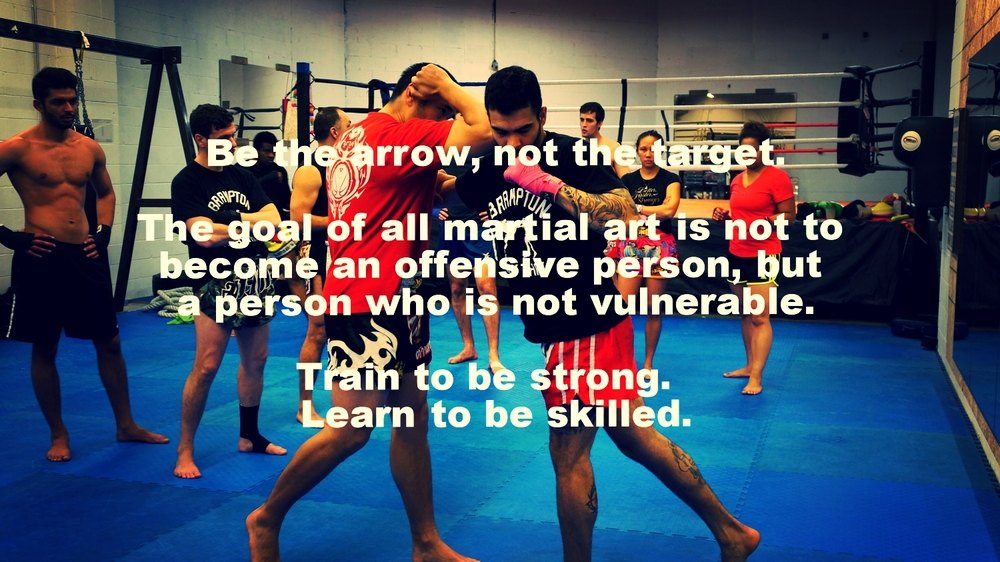 A group class is two parts: Physical Conditioning, and Technical Instruction.  Muay Thai is a form of physical education.  Meaning, we are educating our body in a physical, kinetic way.  One hand, our ability to defend ourselves is largely predicated on the amount of strength and stamina we possess.  On the other side of the same coin, we can only be as proficient, as we are educated.  With that said, it is my job to train your body thoroughly, and you can expect the highest possible level of instruction to assist your skill development.