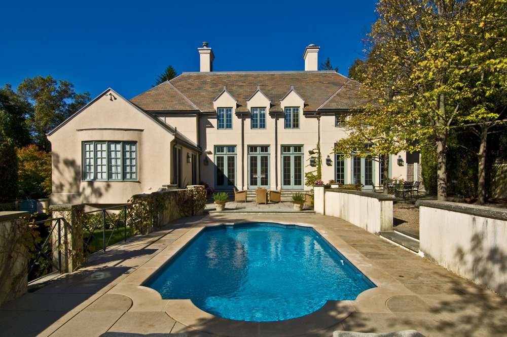 Stucco House with Custom Pool