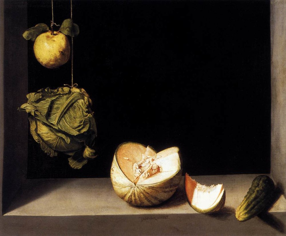 Хуан Санчем Котан, «Айва, кабачок, дыня и огурец», 1602