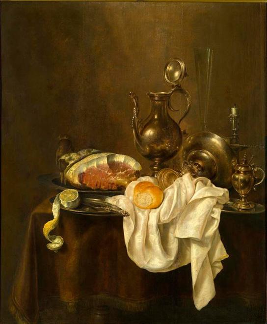 """Геррит Виллемс Хеда, """"Ветчина и серебряная посуда"""""""