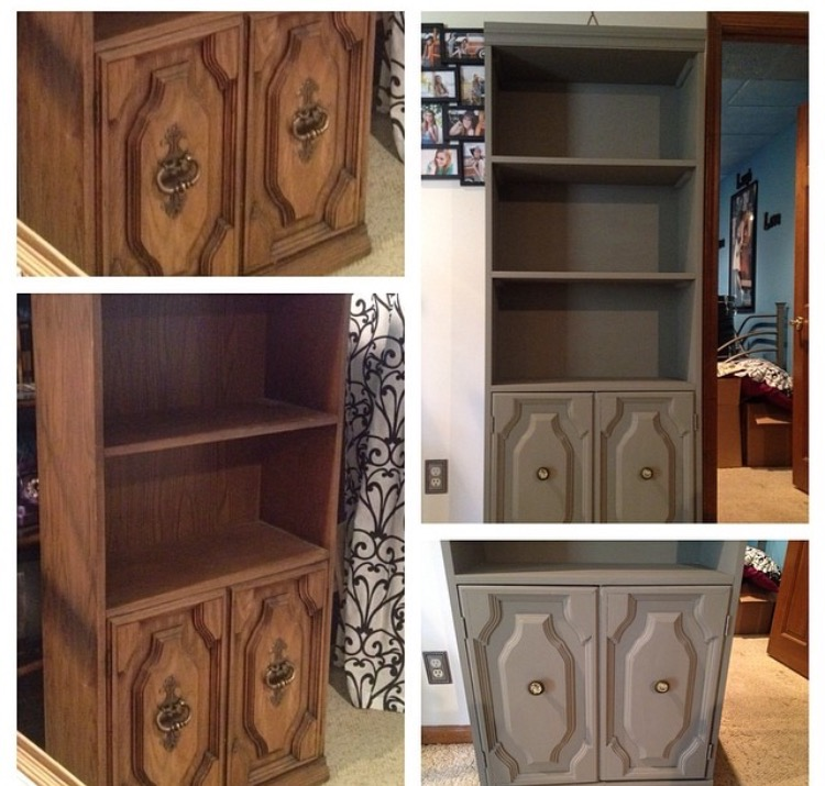 This Is A Before And After Of The Bookcase Photo Shown Above. I Got These  For $19 At Yesternook Each. After Some New Knobs And Two Coats Of Paint I  Went ...