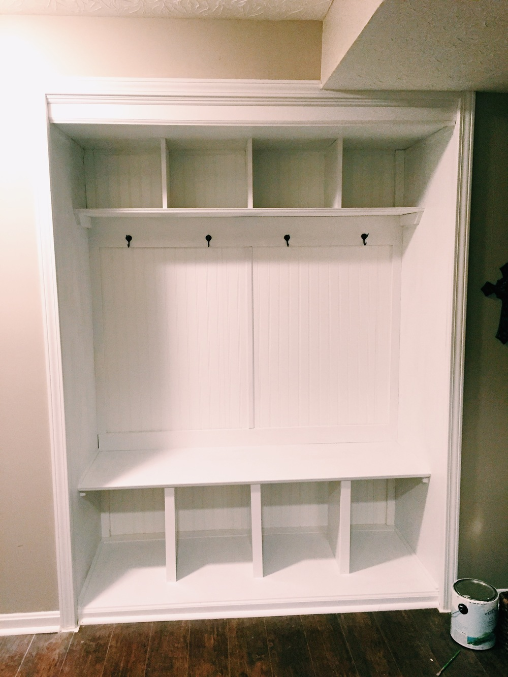 How To Turn A Closet Into A Mudroom Jessica Rayome