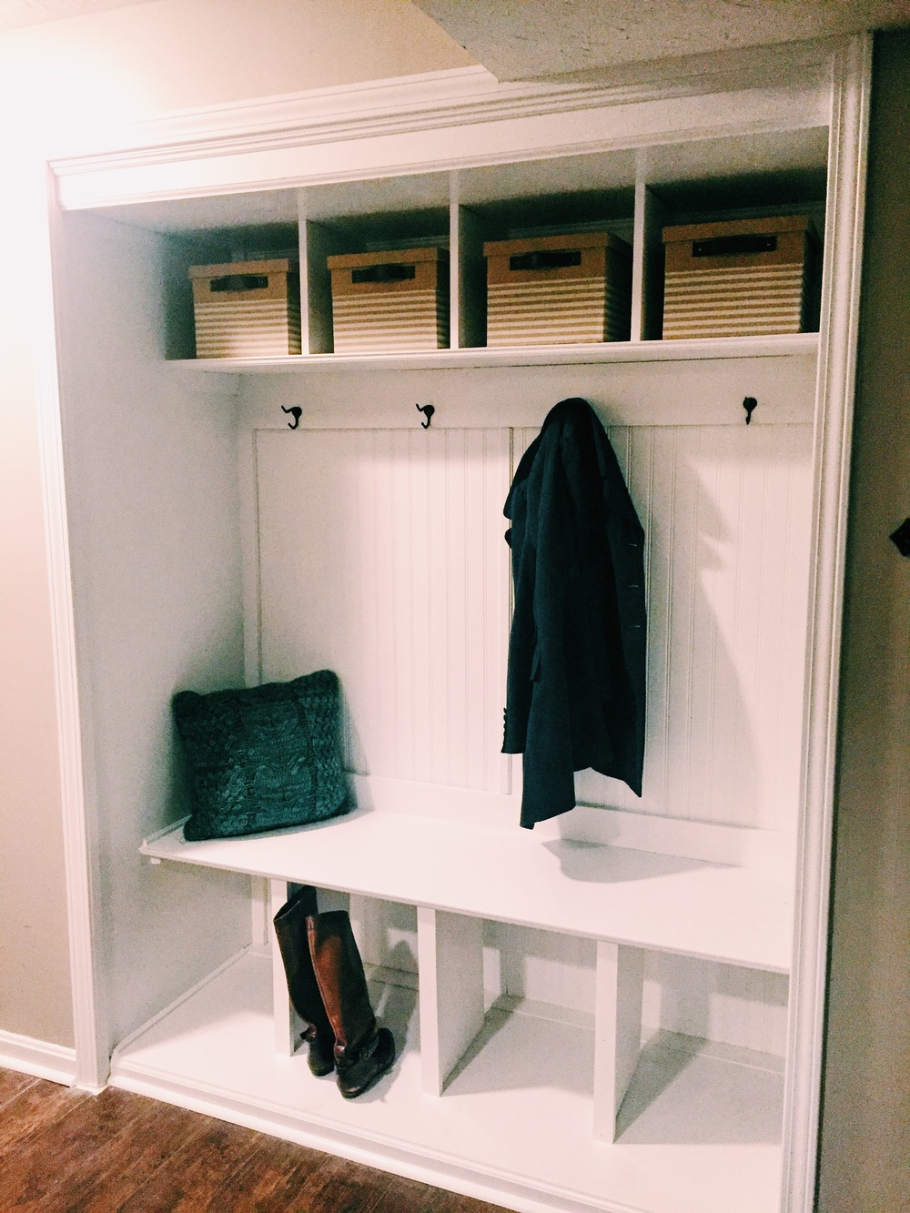 Mudroom Bench And Hooks