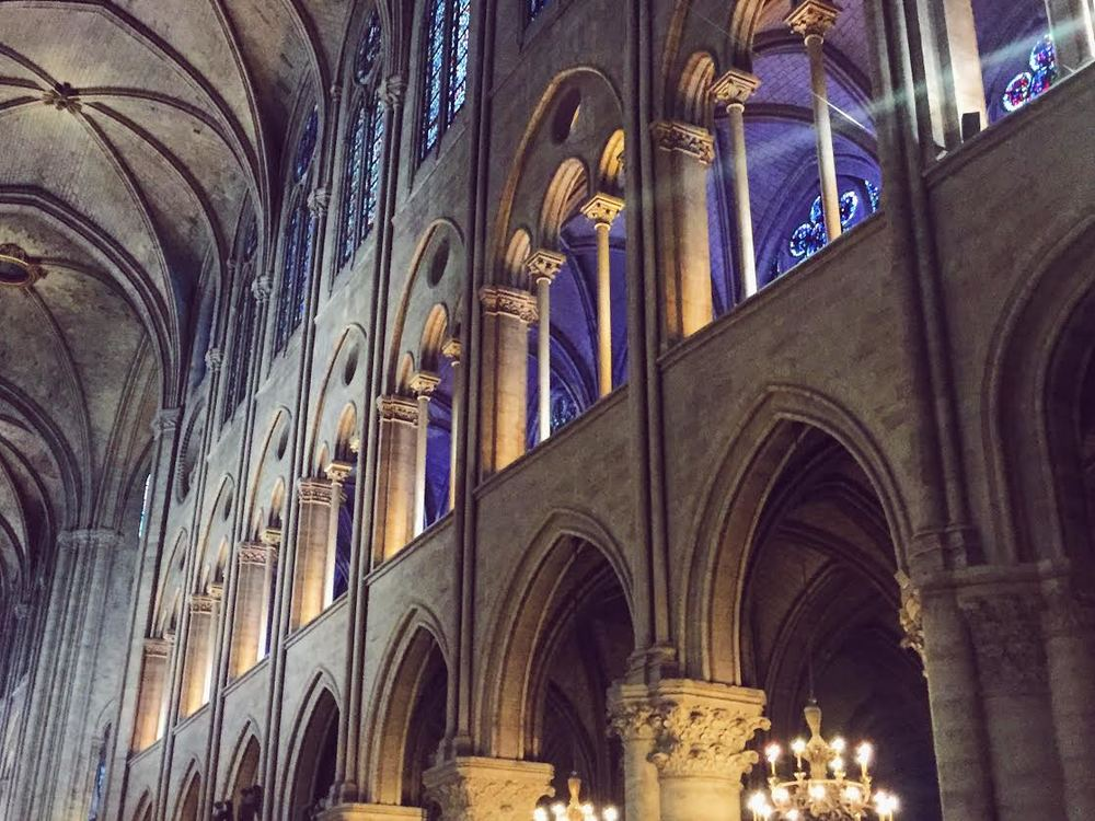 Only the inside of the beautiful Notre Dame. I know it's crazy. I never thought of myself as liking stained glass until I saw all these churches!