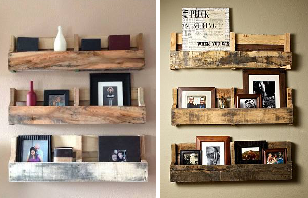 Other versions of pallet shelves