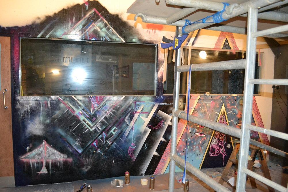 Fallen Furniture Workshop Mural