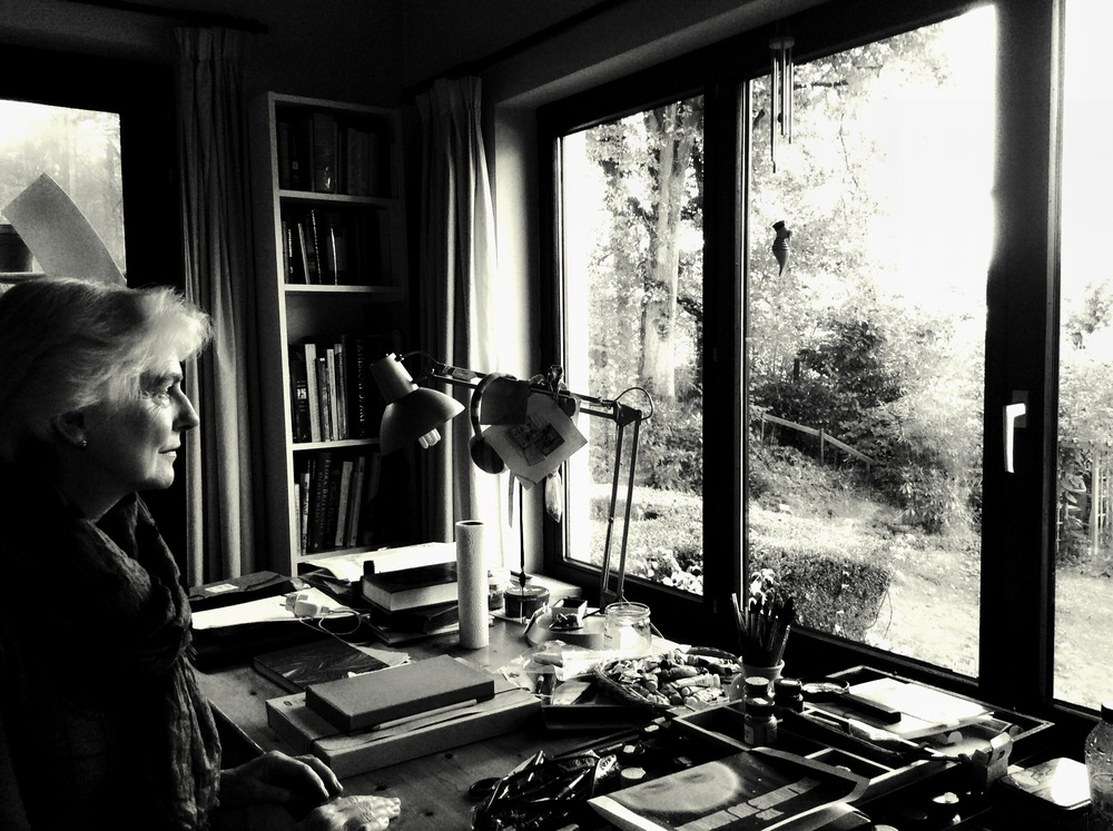 Carol at her desk