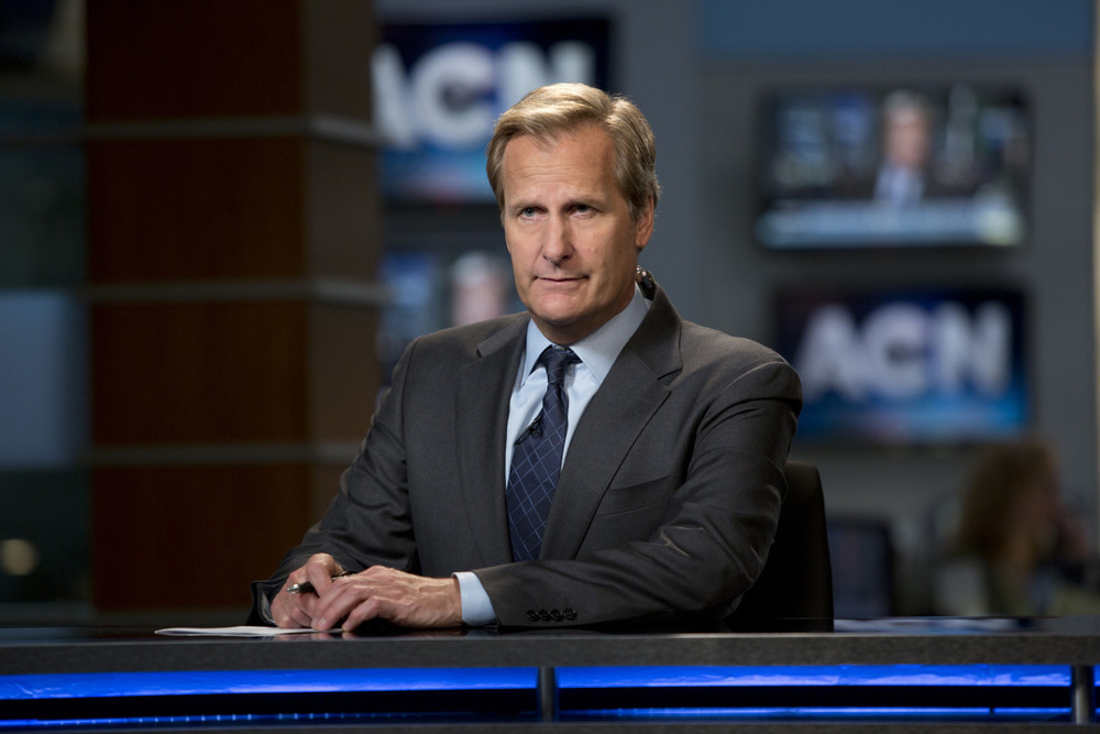 Jeff Daniels stars in Aaron Sorkin's The Newsroom