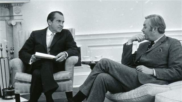 Richard Nixon and Daniel Patrick Moynihan