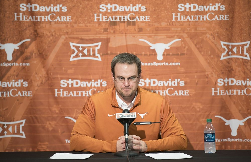 new University of Texas football coach Tom Herman. Source: hookem.com