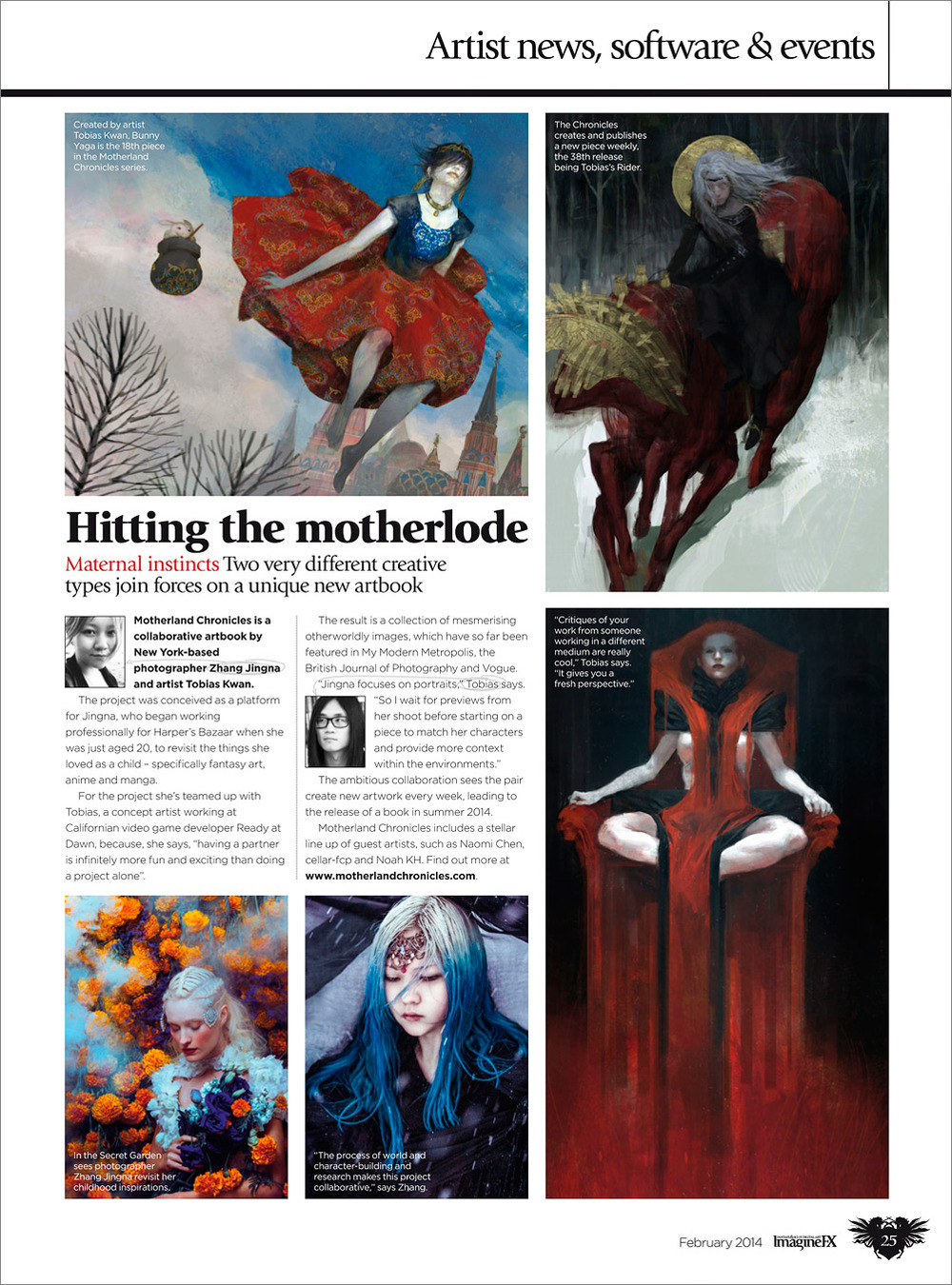 """Hitting the Motherlode"",  ImagineFX , Feb 2014, Page 25"