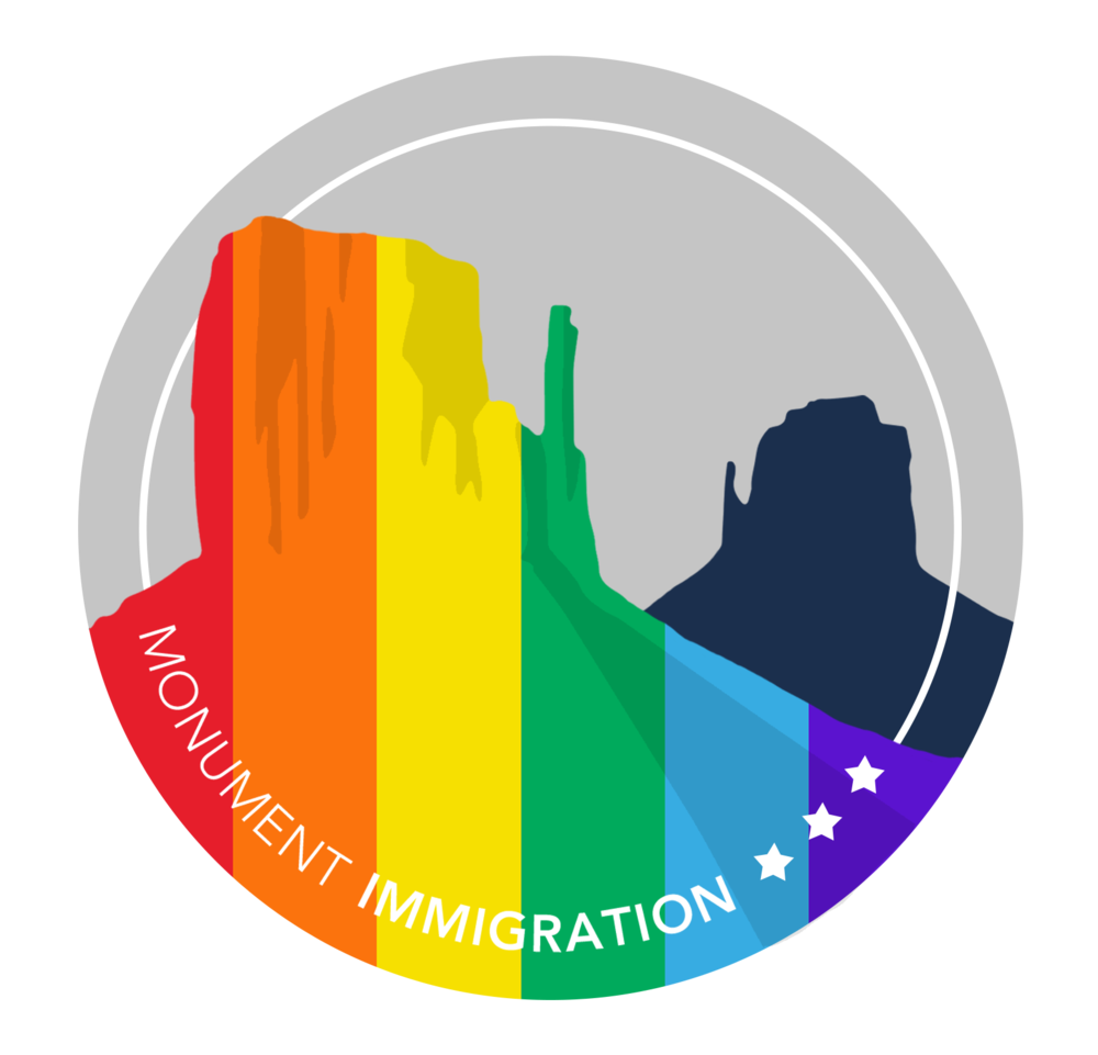 Monument Immigration Stands with LGBTQ Immigrants - June is Pride Month across the globe.  Fittingly, in June of 2013 the Defense of Marriage Act (DOMA) was struck down granting same-sex couples the federal protections under the law.  From an immigration perspective, this meant that same-sex couples could now petition for green cards for their spouses, be considered for hardship in waivers and immigration proceedings, and petition to bring their fiancé(e)s to the U.S. from abroad.Monument Immigration takes great pride--and considers it an honor--to represent every immigrant in obtaining legal status, applying for asylum, or naturalizing to become a U.S. Citizen.Every person, regardless of race, religion, nationality, political opinion, or sexual orientation deserves high quality legal representation.  Mark Naugle has represented clients from all over the world.  He was also one of the first attorneys in the United States to begin representing same-sex couples nationwide once marriage equality was the law of the land.If you would like more information about the services of Monument Immigration, an immigration law firm serving every state and country in the world, you can contact us at monumentimmigration.com or by calling (801) 871-5549.