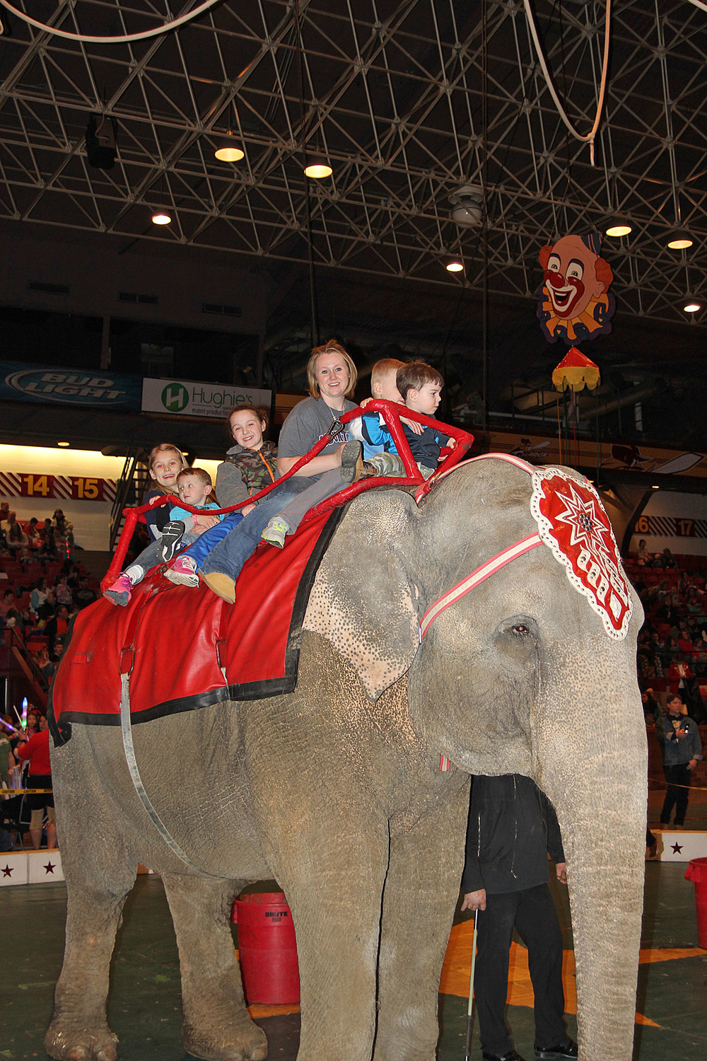 Regardless of your age, everybody is ready to ride an elephant (or a pony)! Family fun at its best at the Tadmor Shrine Circus.