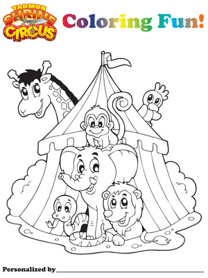 Tadmor Shrine Circus Canton Ohio and Akron Ohio Coloring Pages