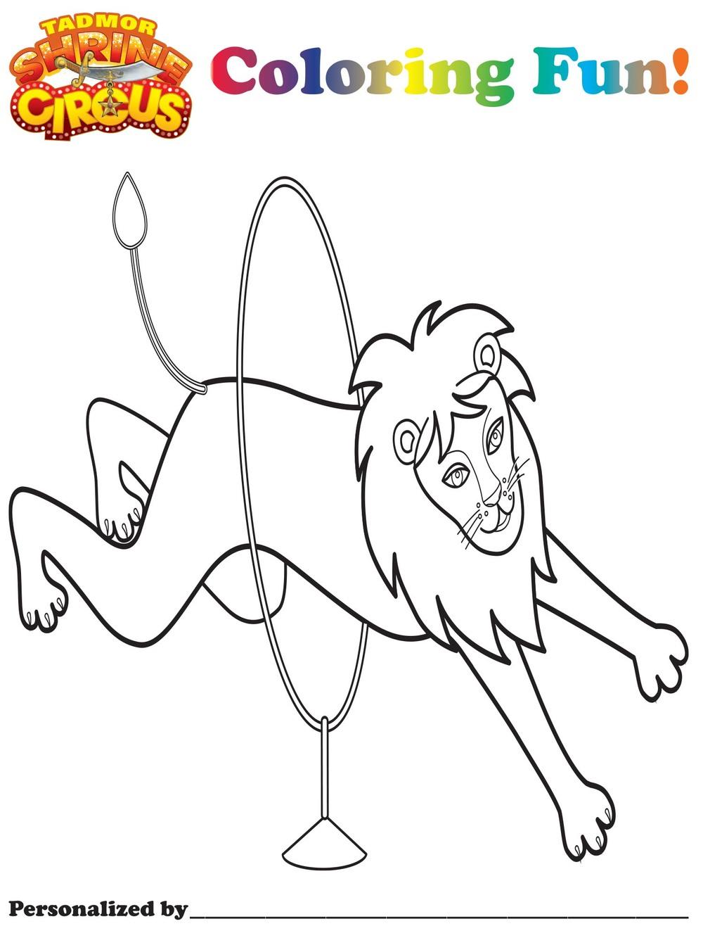tadmor shrine circus canton ohio and akron ohio u2014 coloring pages