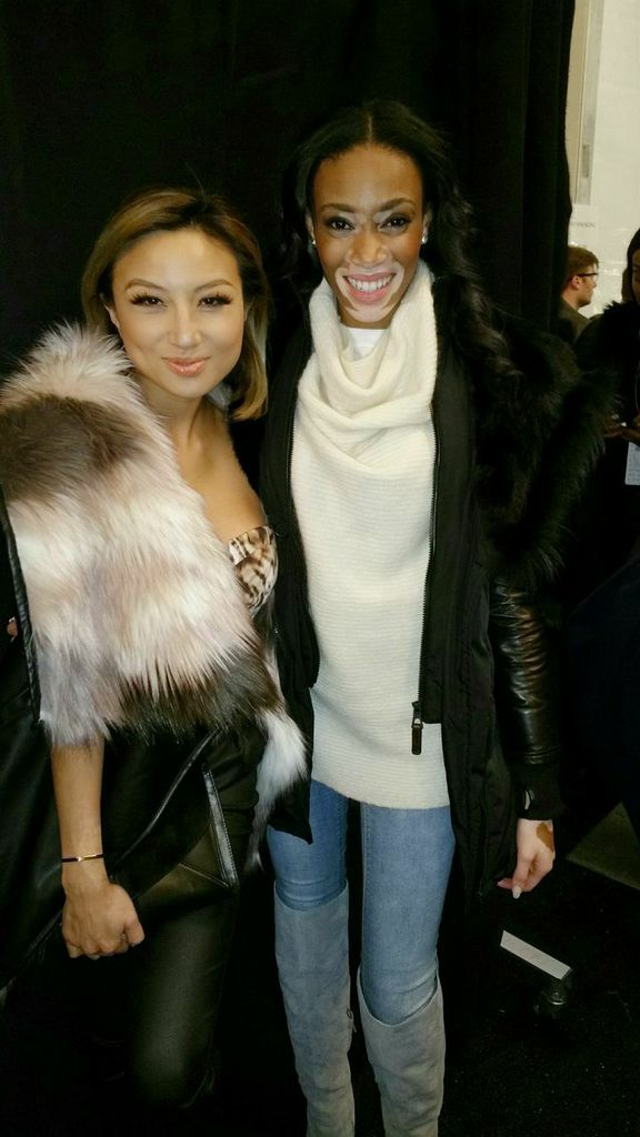 Jeannie with Winnie Harlow