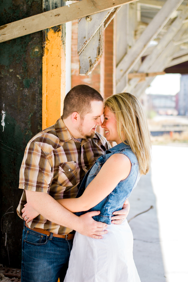 Couples session in Kansas City west bottoms couples photography couple under porch awning