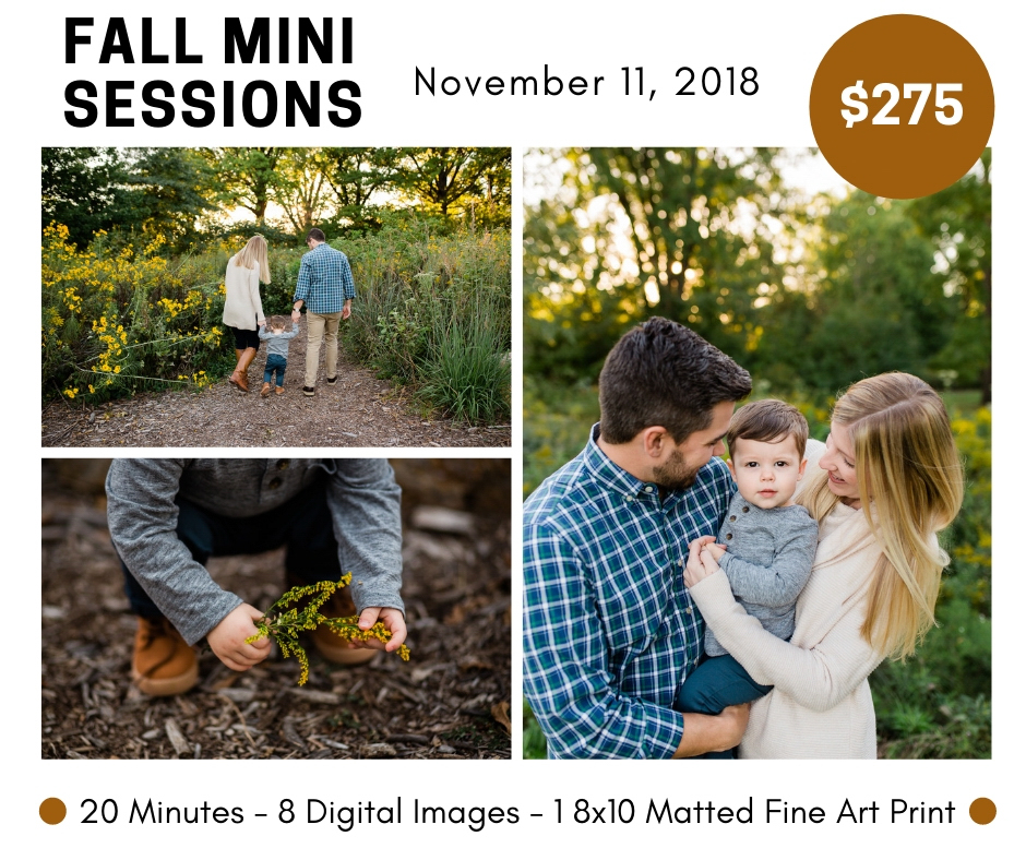 Kansas City fall mini sessions, fall family photos, November photo session, mini engagment session, affordable family photographer, Rebecca Clair Photography
