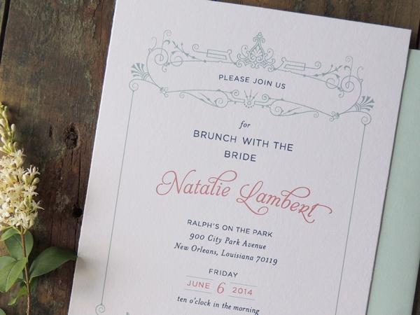 bridal brunch invitation harken press