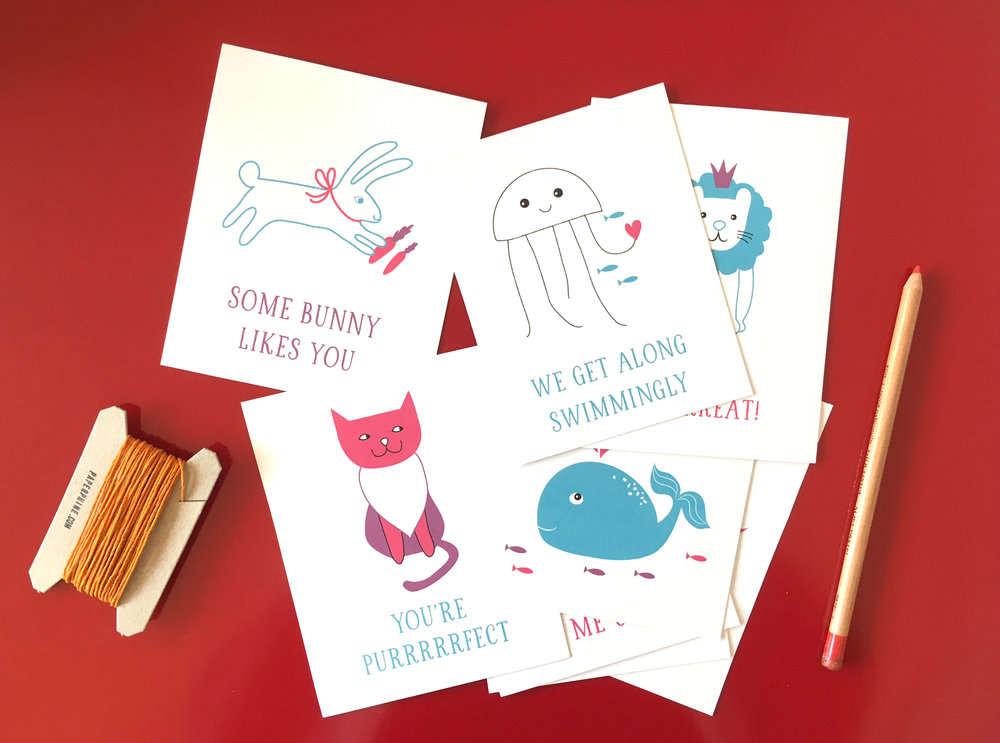 Image of: Bug Animal Pun Valentines To Print At Home For Your Childrens Classroom Party Harken Press Free Printable Valentines For Kids Harken Press
