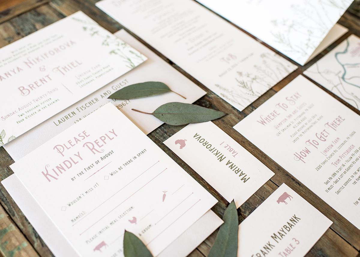Anatomy Of A Wedding Invitation Suite Harken Press