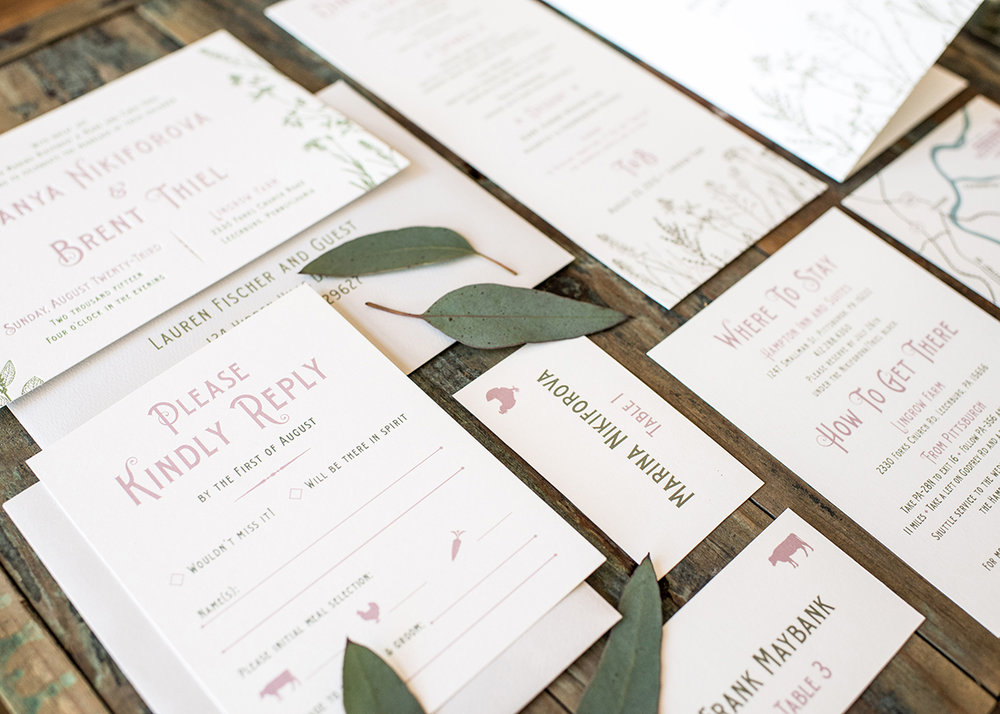 Anatomy of a Wedding Invitation Suite — Harken Press