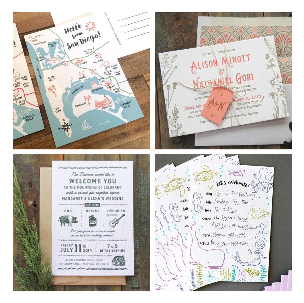 Harken Press design + paper goods : custom invitations, retail products, illustration, production
