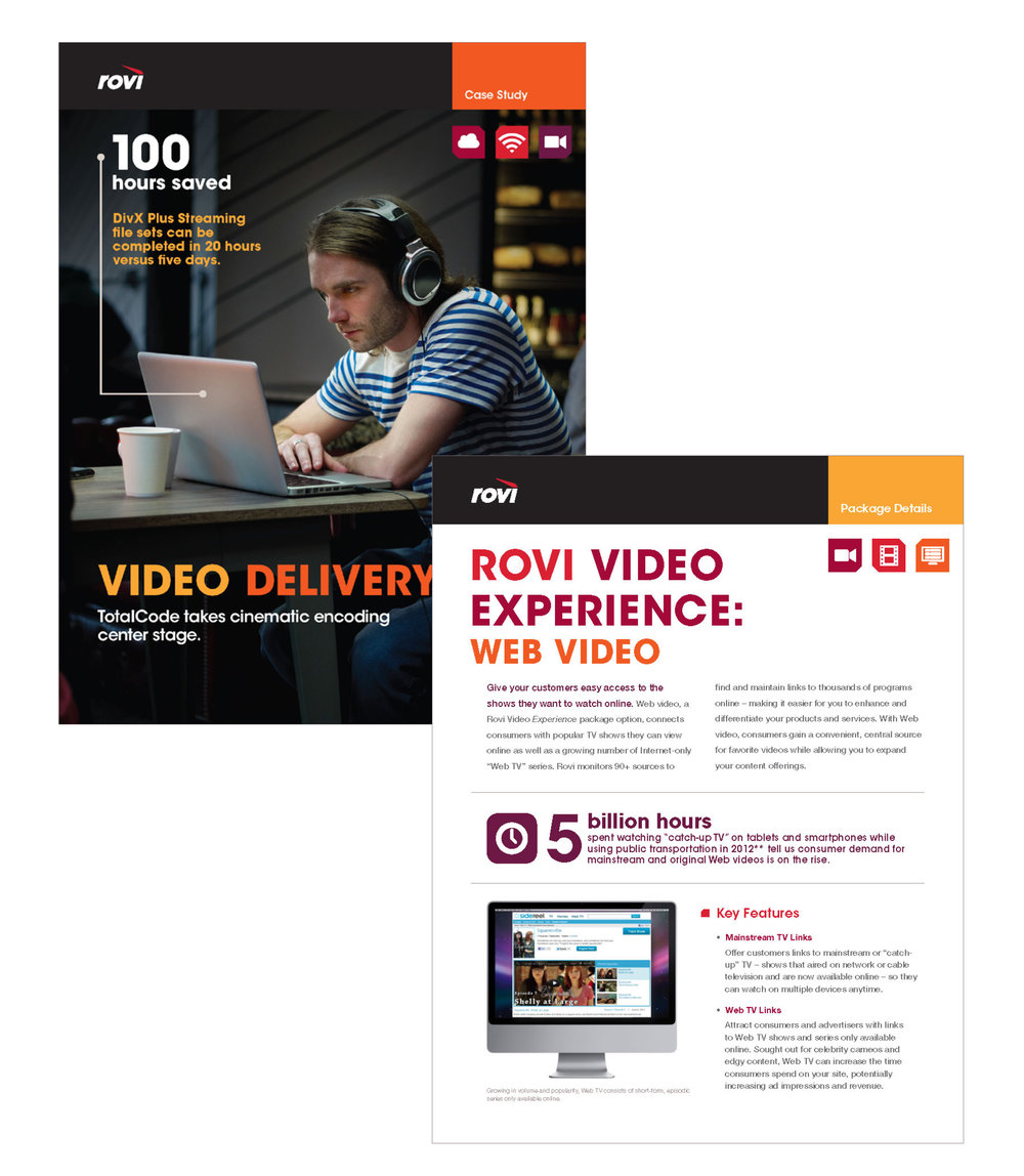 Rovi Corp : B2B collateral materials