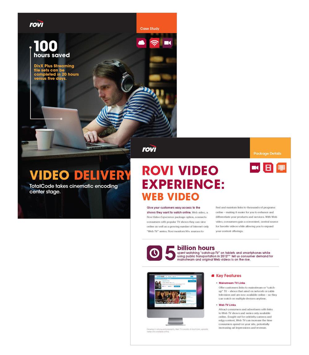 Rovi Corp : B2B collateral materials
