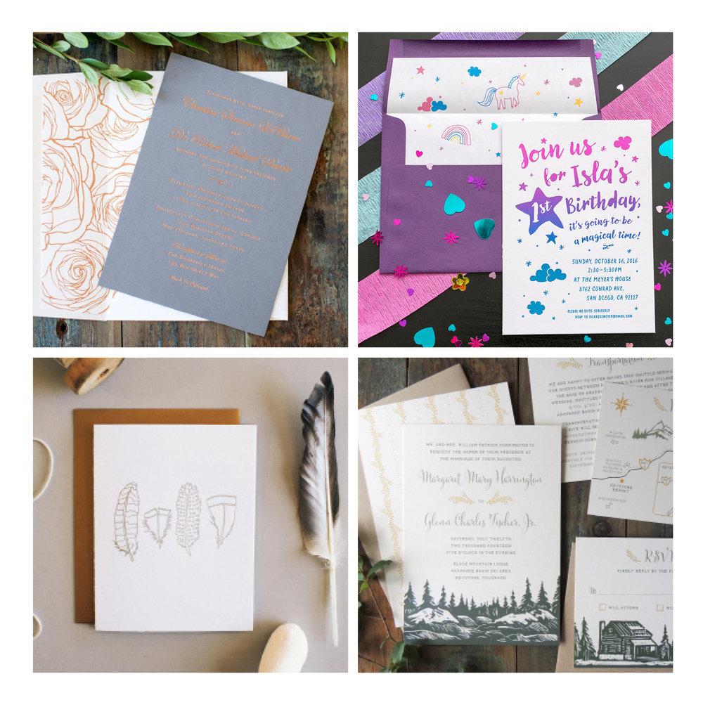 Harken Press:  invitations, retail products, illustration