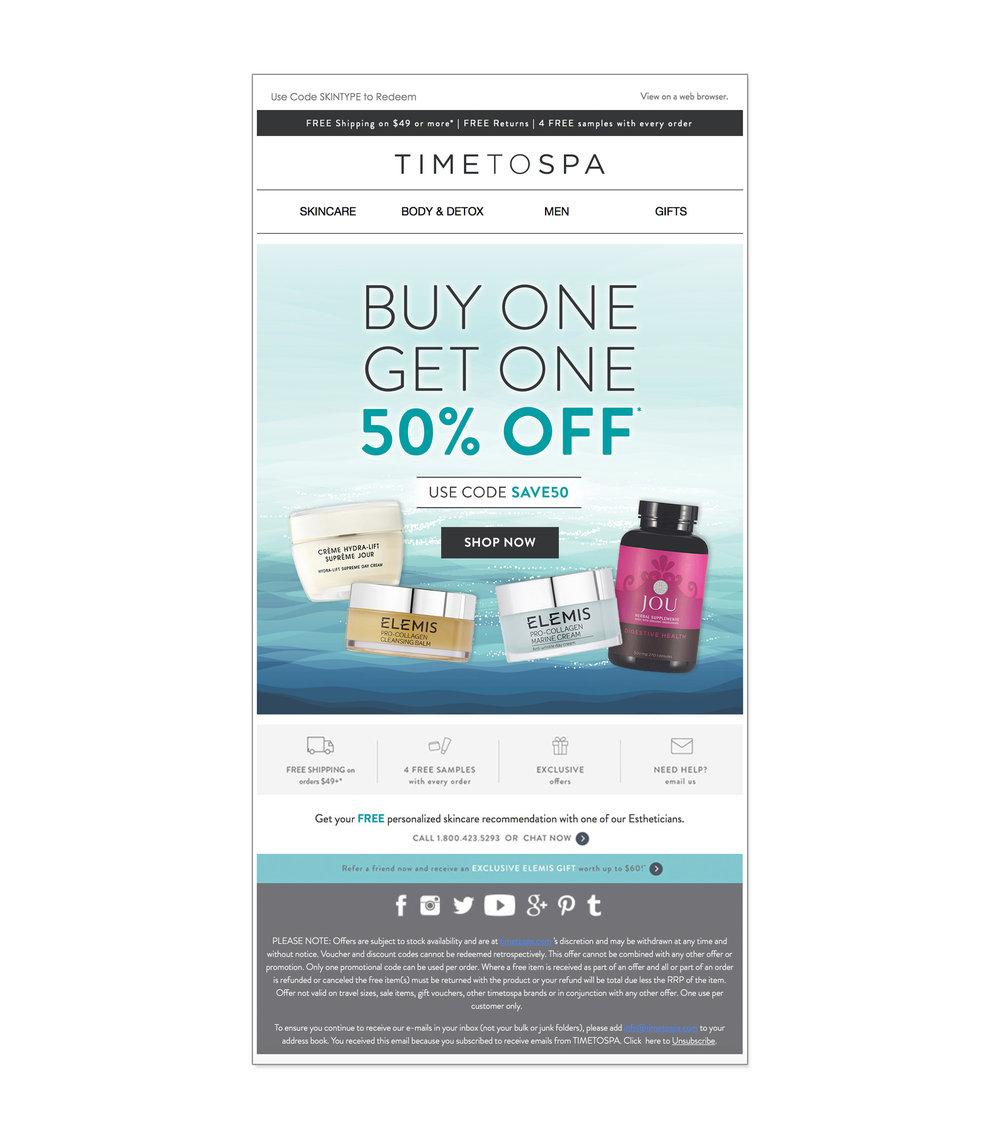 TimeToSpa:  email design