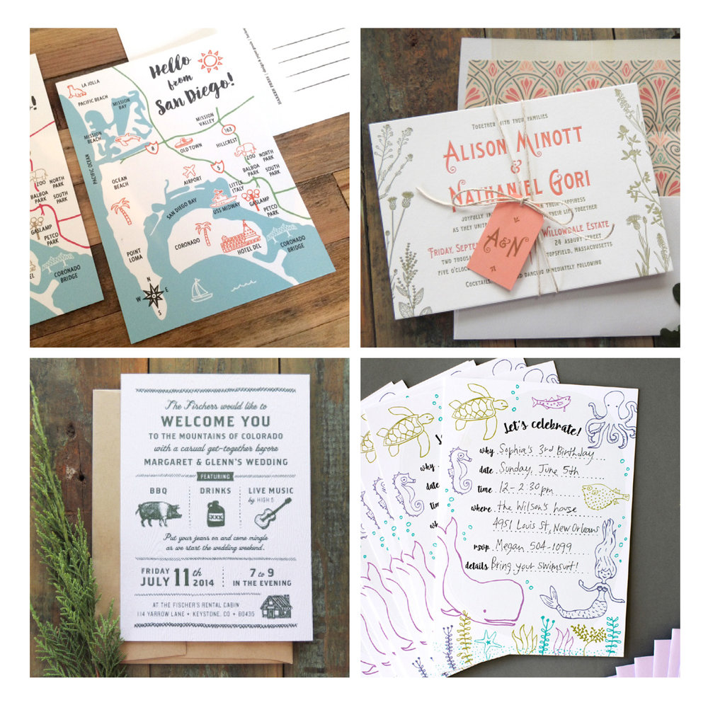 Harken Press  retail products and invitations: illustration, printing