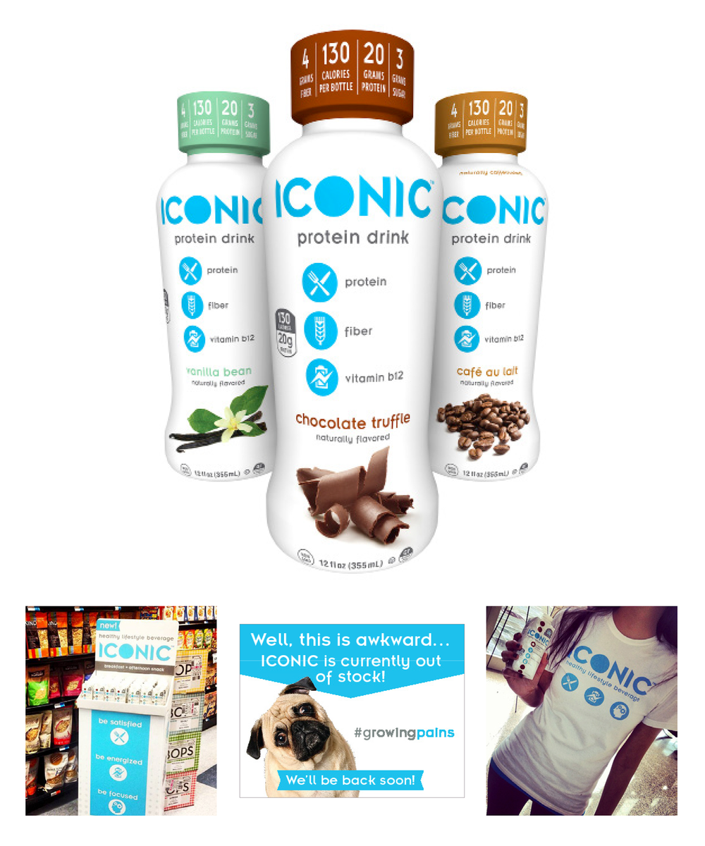 ICONIC protein beverage : identity, packaging