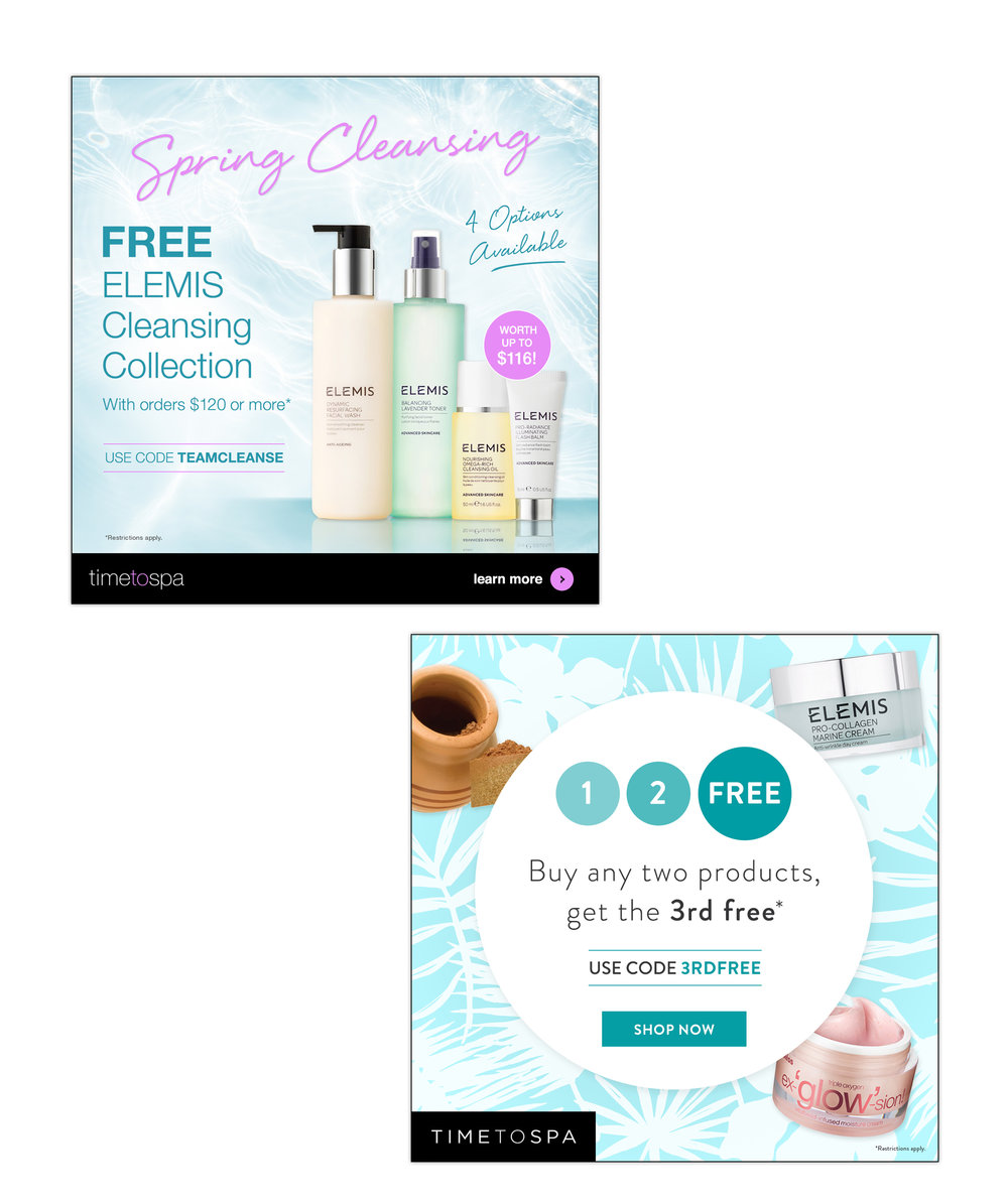 TimeToSpa : brand redesign, product campaigns, all online promotions