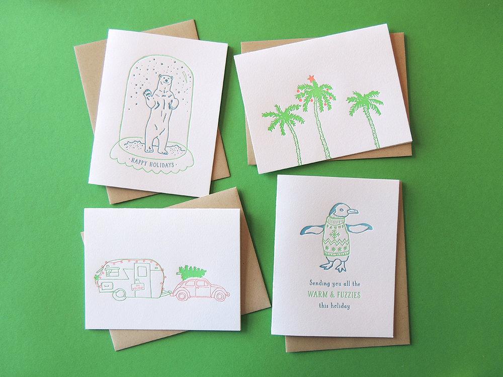 Harken Press : illustration, letterpress holiday cards
