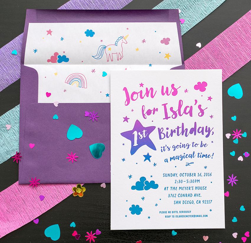 Harken Press : letterpress birthday invitation