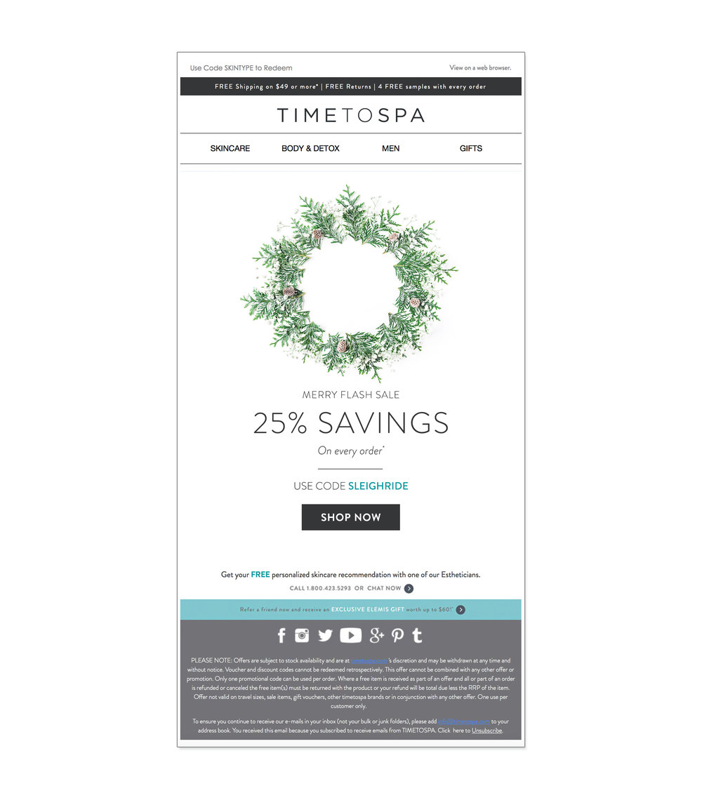 TimeToSpa : email design