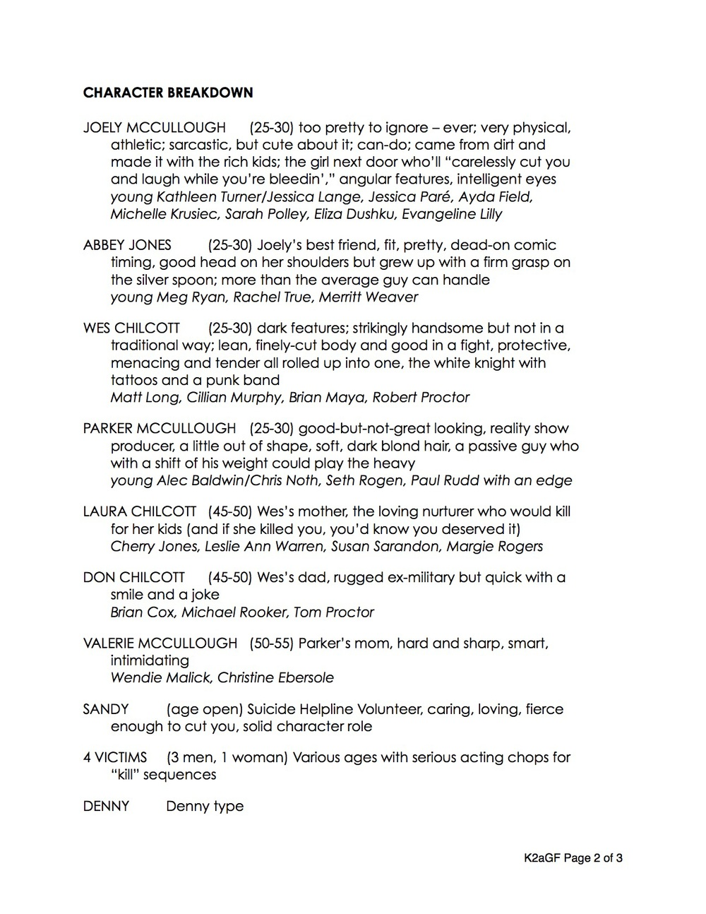 Sample K2agf Film Treatment Adam Jackman Knife To A Gunfight Feature Short  Form Rundown Page 2