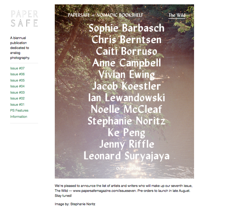 "Issue 7, ""The Wild"" contributors"