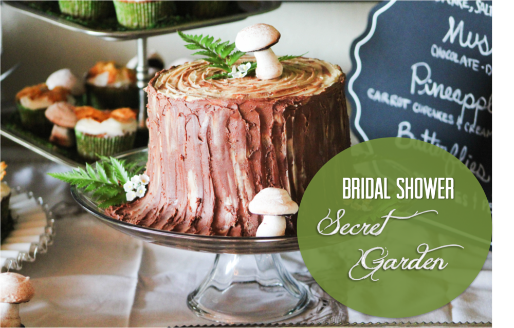 bridal shower secret garden theme