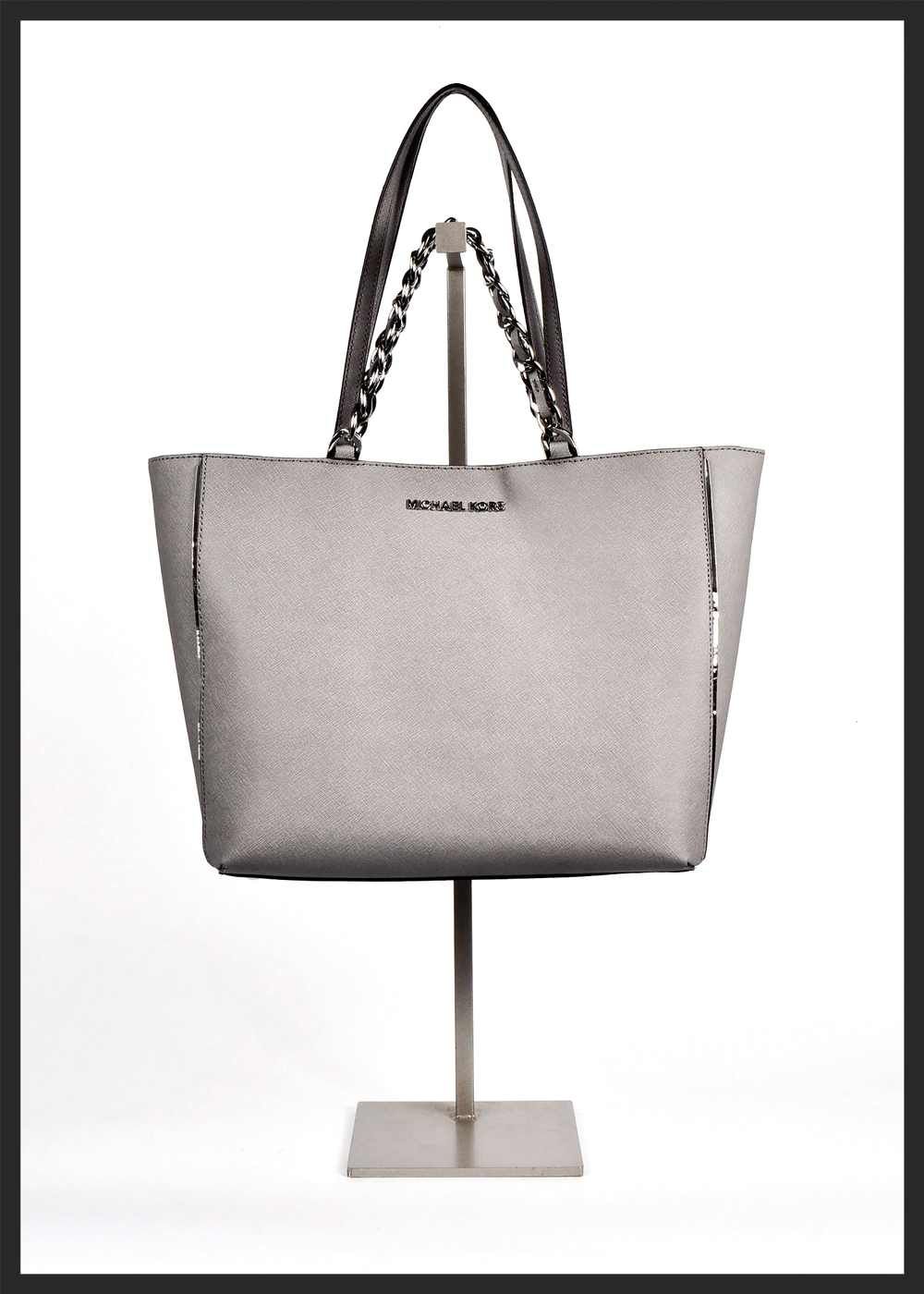 Silvery Sleek Michael Kors Bag