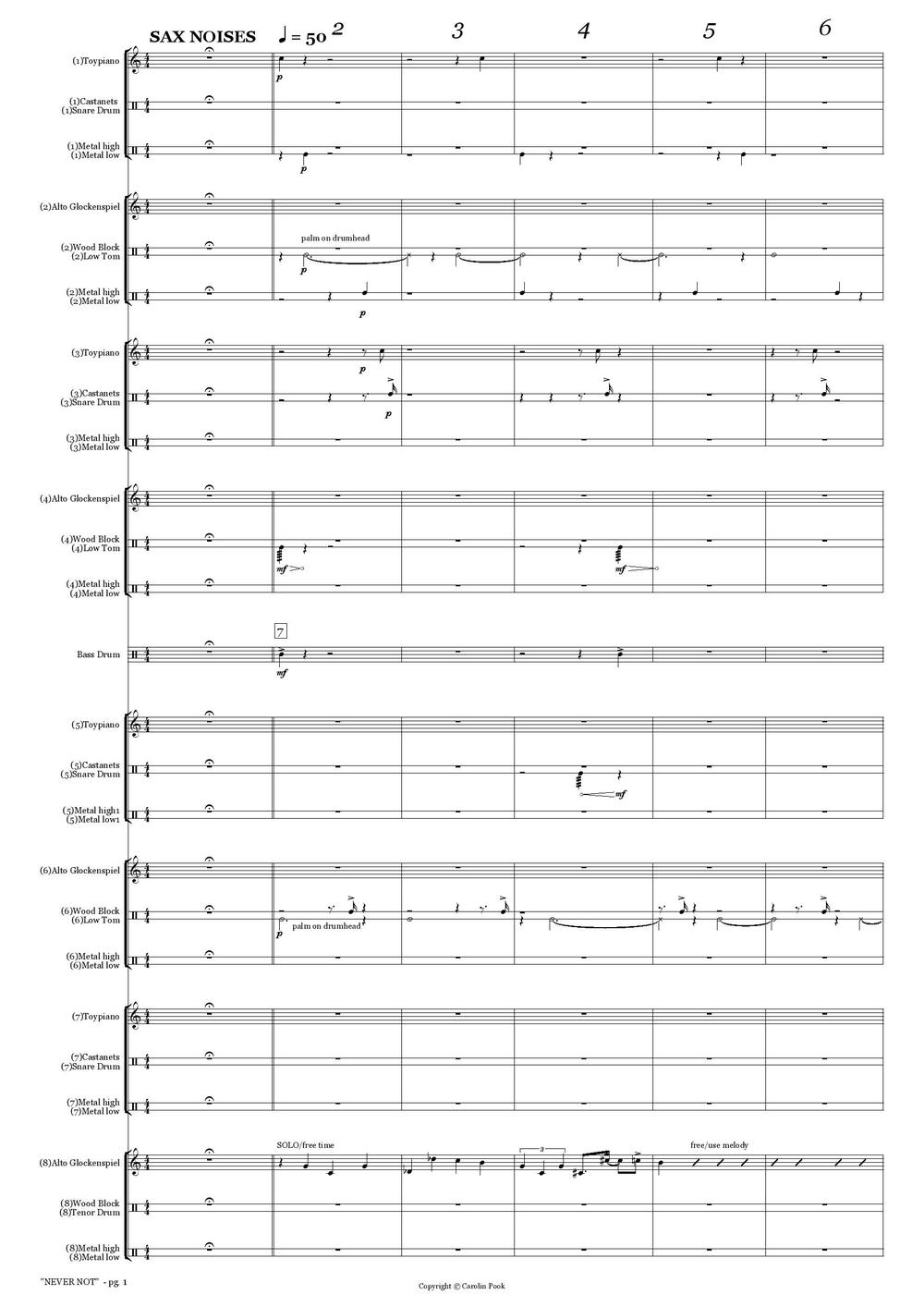 Copy of SCORE EXCERPTS (to request full score, please send an email)